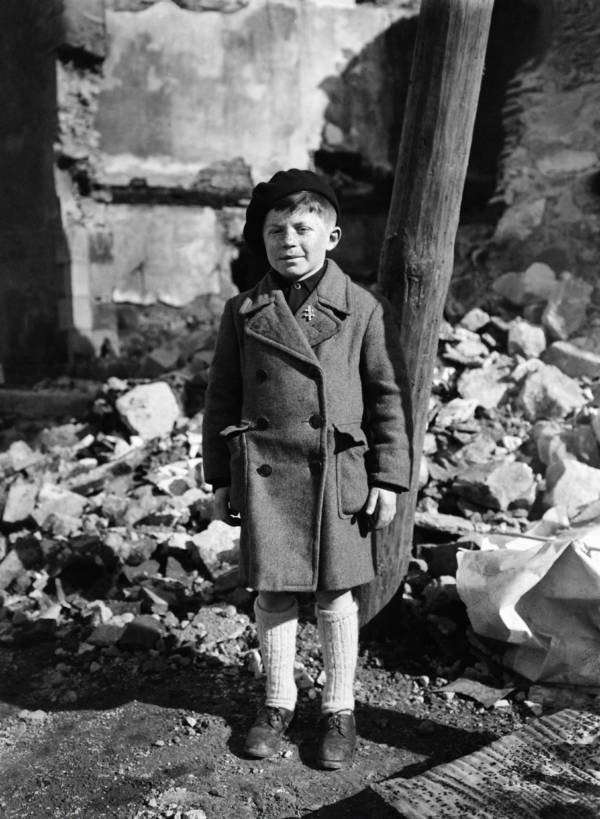 Roger Godfrin, the only survivor of a massacre during which Nazi troops locked 643 citizens (including 500 women and children) inside a church and set fire to it on June 10, 1944 in Oradour sur Glane, France..jpg