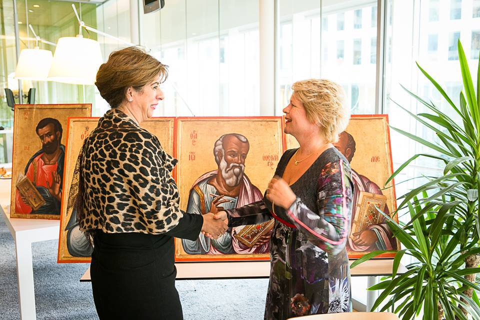 Tasoula Hadjitofi with Marjan Hammersma-Director General Culture and Media at Ministerie van OCW.jpeg