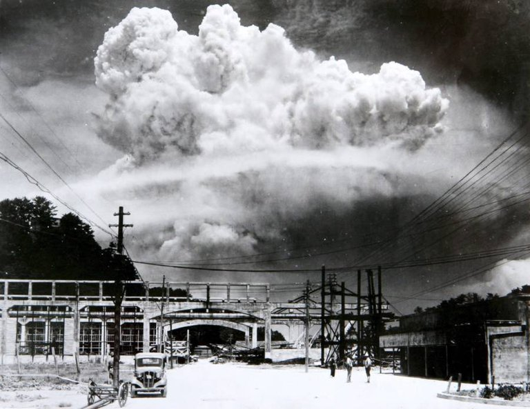 The atomic bombing of Nagasaki, Japan by the U.S. on August 9, 1945..jpeg